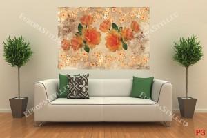Фототапети винтидж композиция с оранжеви рози