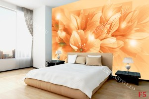 Фототапети композиция лилиуми в оранжево
