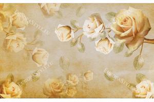 Фототапет рисувани рози винтидж модел