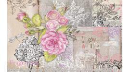 Фототапети ретро картичка с рози във винтидж стил
