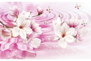 розова композиция водно отражение с лилиум