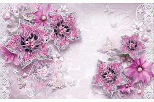 диамантени бижута в розово с пеперуди и перли