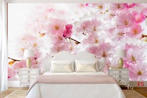 Фототапети розов пролетен цвят 2