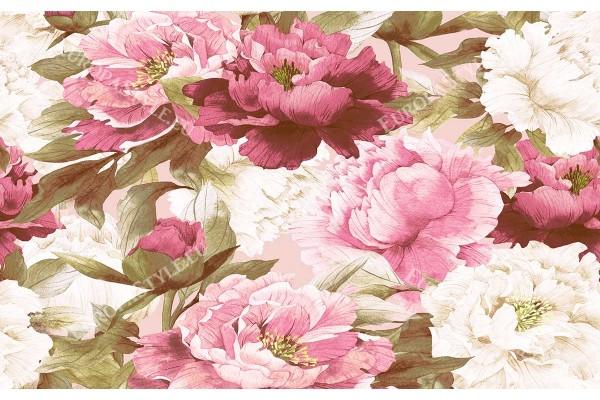 Фототапети рисуван букет розови божури