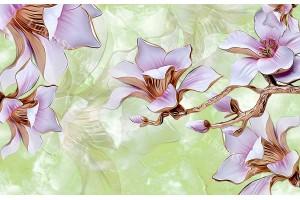 3д порцеланови цветя на мазилкова основа