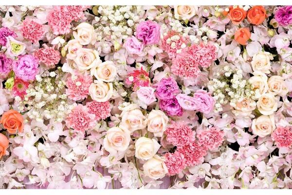 Фото тапет стена шарен букет от различни малки цветя