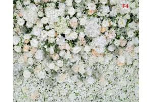Фототапети стена от пастелни рози зелено-бяло