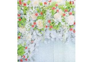 Фототапет стена микс от пастелни цветя и рози