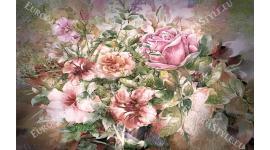 Фототапет микс от рози арт модел рисуван с водни бои