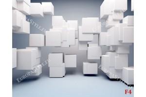 3д кубове хаотични на фон в 2 нюанса