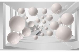 3д тунел абстракт с големи сфери 1