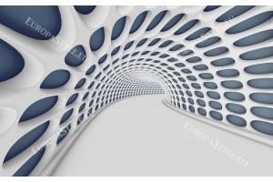 3Д геометричен двуцветен тунел в 2 варианта