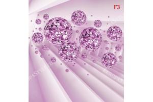 Фототапет абстракт с лъчи от диаманти в 3 цвята