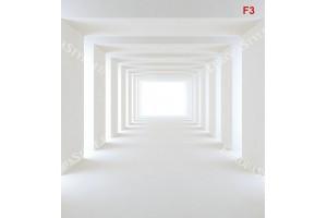 Фототапет модерен  бял тунел триизимерен ефект