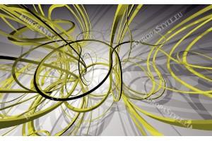 Фототапети модерни спирали в зелено и сиво