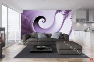 Фототапети елегантна спирала във виолетово