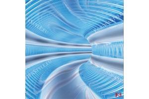 Фототапети абстрактна спирала тунел в 3 цвята