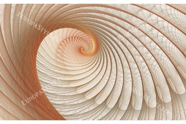 Фототапет спирала в бежово