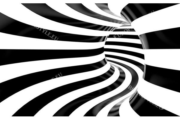 черно бяла 3д спирала тунел