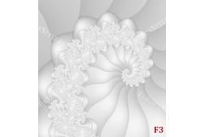 ефектна бяла спирала с флорални орнаменти