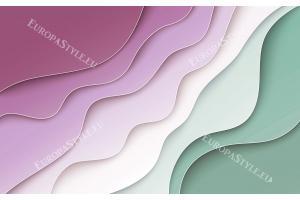 геометрична комбинация от цветове вълни