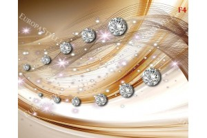 Фототапети абстракт вълни с диаманти и звезди
