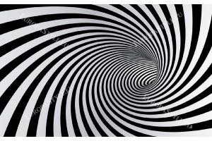 Фототапет 3д ефект черна спирала