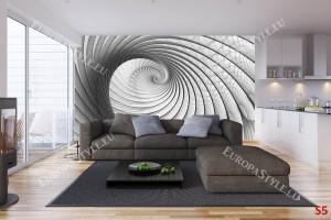 Фототапети сива модерна спирала 2