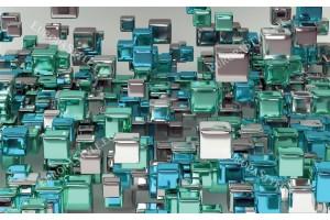 Фототапети 3D абстрактни цветни кубове в 4 цвята