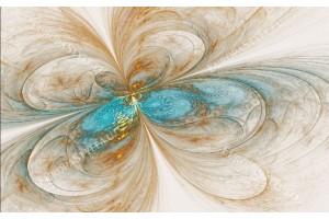 Фототапет абстракция в син и бежов нюанс