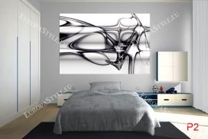 Фототапет абстракция вълни и линии в черно