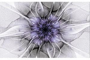 Фототапет цвете мрежа в лилаво