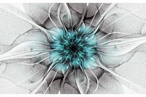 Фототапет цвете мрежа в тюркоаз