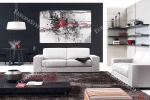 Фототапет абстракция в черно и червено