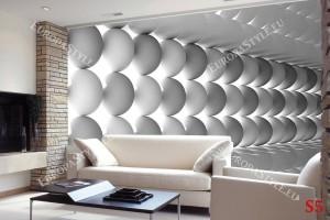 Фототапети 3Д сфери абстрактно подредени