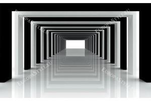 контрастен тунел в черно с и без сфери