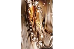 модерни вълни с диаманти в 3 цвята