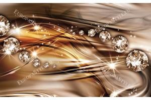 модерни вълни с диаманти в два цвята