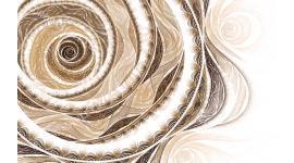 абстрактна спирала в бежово -кафява гама