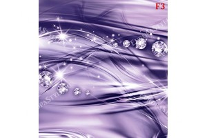 модерни вълни с диаманти в лилаво и розово