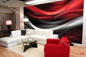 фототапети модерни дъги в черно и червено