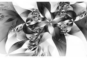 Фототапет модерен абстракт в бяло и черно