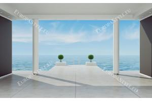 Фототапет изглед стая море 3д ефект