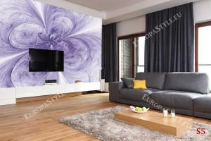 Фототапети абстракция цвете в лилаво