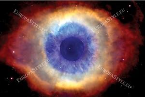 Фототапет космическо око в кафяво
