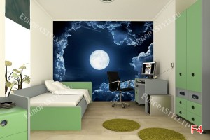 Фототапет тъмни облаци със сфера земя