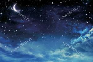 Фототапет изглед красива луна и облаци