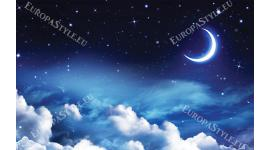 Фототапет ефектен модел нощно небе и луна