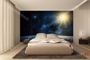 Фототапет нощно звездно небе и слънце