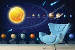 Фототапет космос с планети слънчева система
